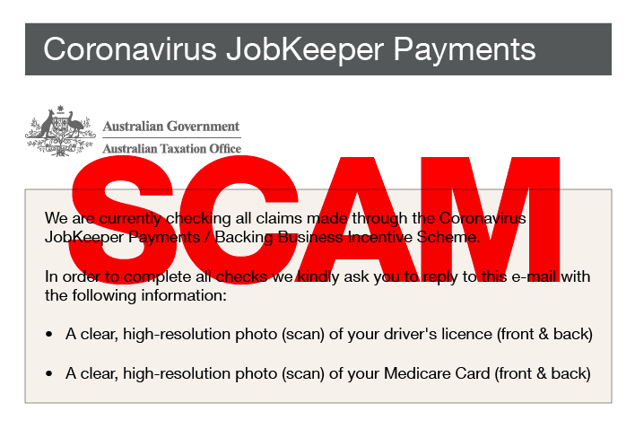 ato JobKeeper email scam