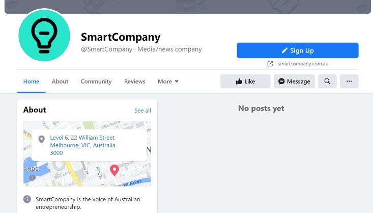 SmartCompany's Facebook page