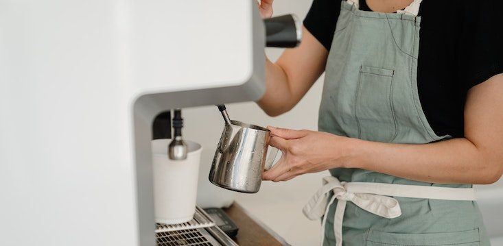 making coffee young person