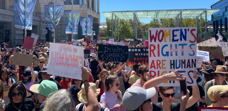 Women's rights rally
