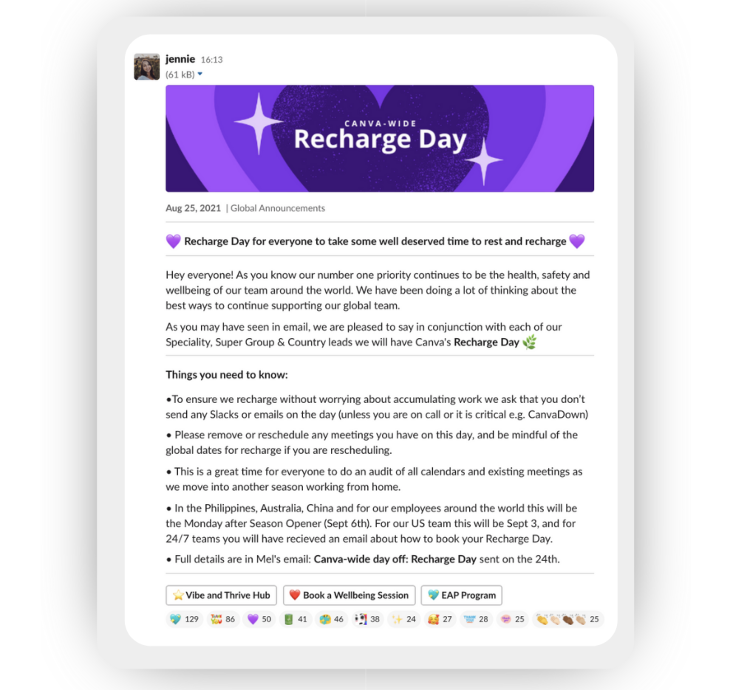 Canva recharge day