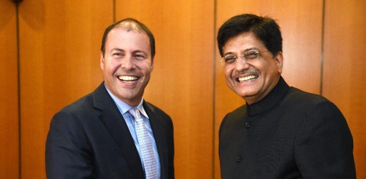Josh Frydenberg Piyush Goyal india free trade deal