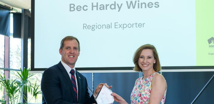 Bec Hardy Wines export award